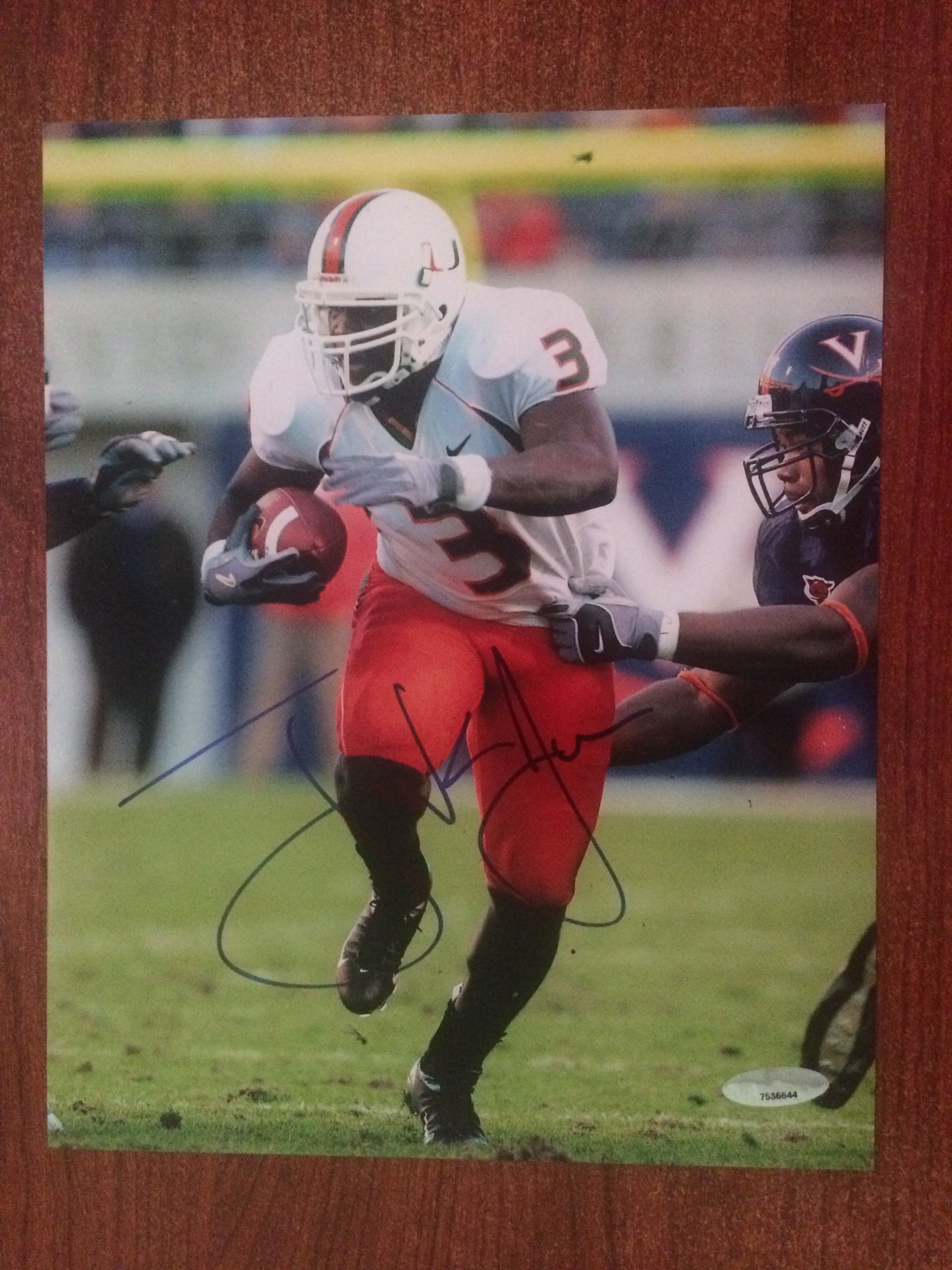 Frank Gore Miami 49ers 8x10 Hand-Signed Photo