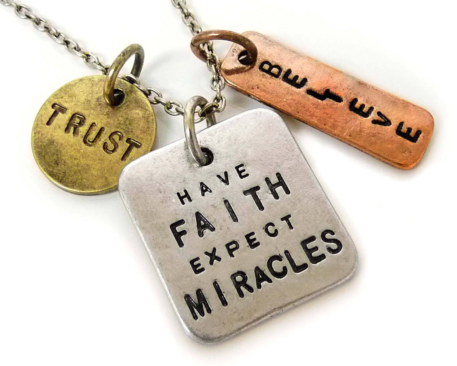 Have Faith, Expect Miracles necklace