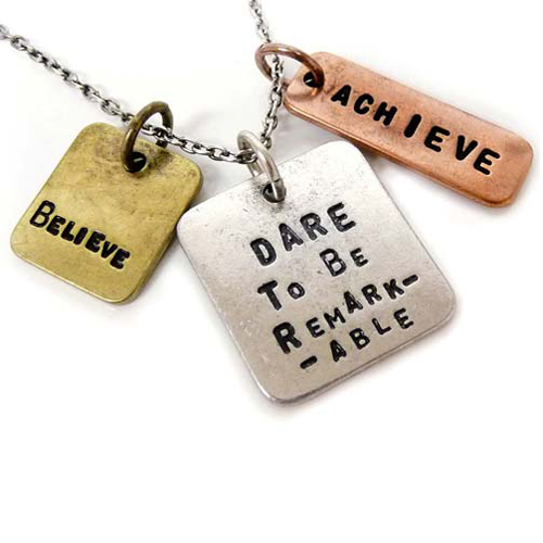 Dare to be remarkable necklace