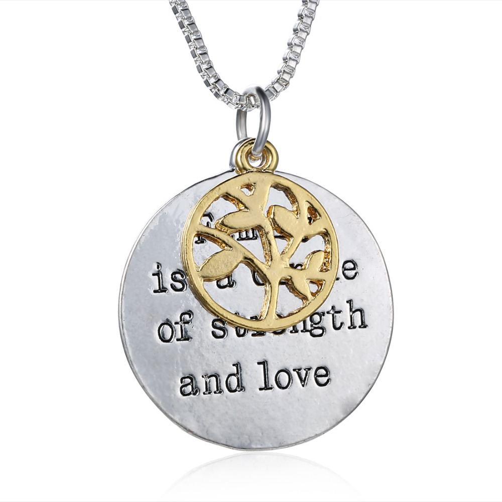Family is a circle of love necklace