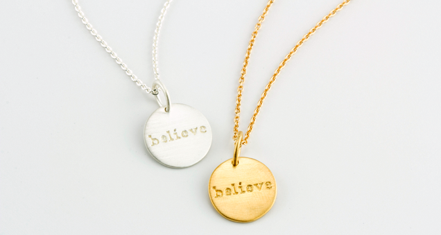 Silver Believe Necklace