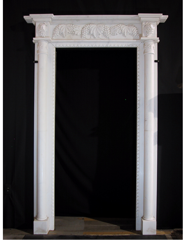 Deep Grapevine Carved Marble Door Surrounds