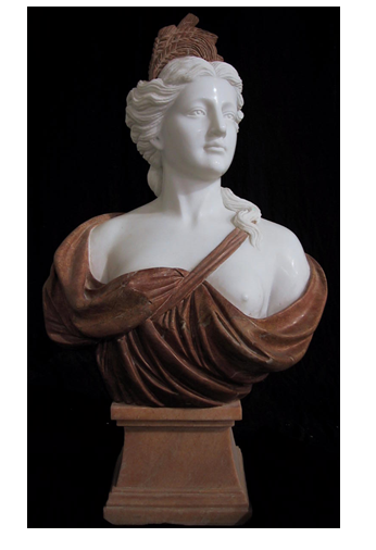 "Hand Carved Marble ""Bust"""