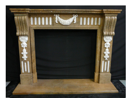 Marble Fireplace Mantel - Inlaid