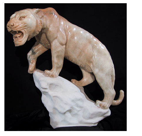 Marble Tiger Sculpture