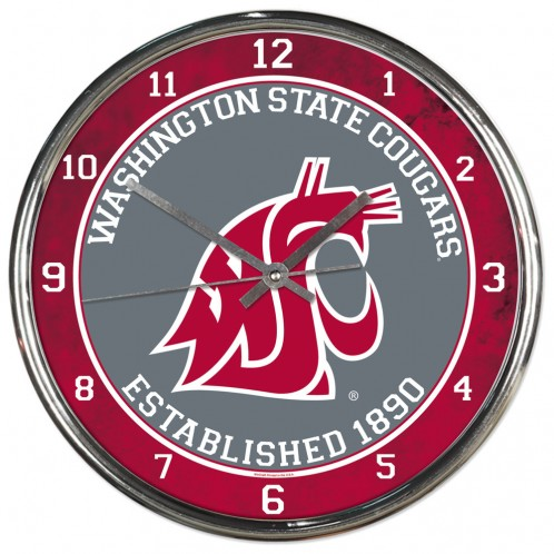 WSU Chrome Clock