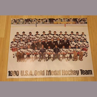 "1980 USA Olympic Hockey Team Poster ""Miracle on Ice"""