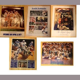23 Vintage Seattle Sports Team Posters: Seahawks and Mariners (1970s-90s)