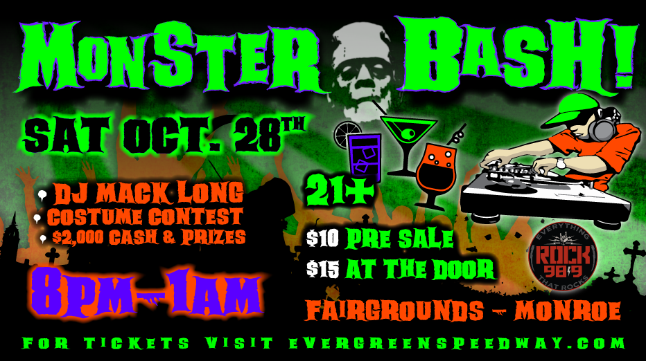 Monster Bash Halloween Party (+2 drinks)</br>Sat. 10/28/2017