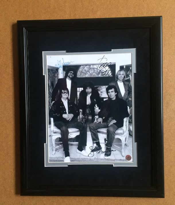 Traveling Wilburys 11 x 14 Framed Photograph with Reproduced Signatures