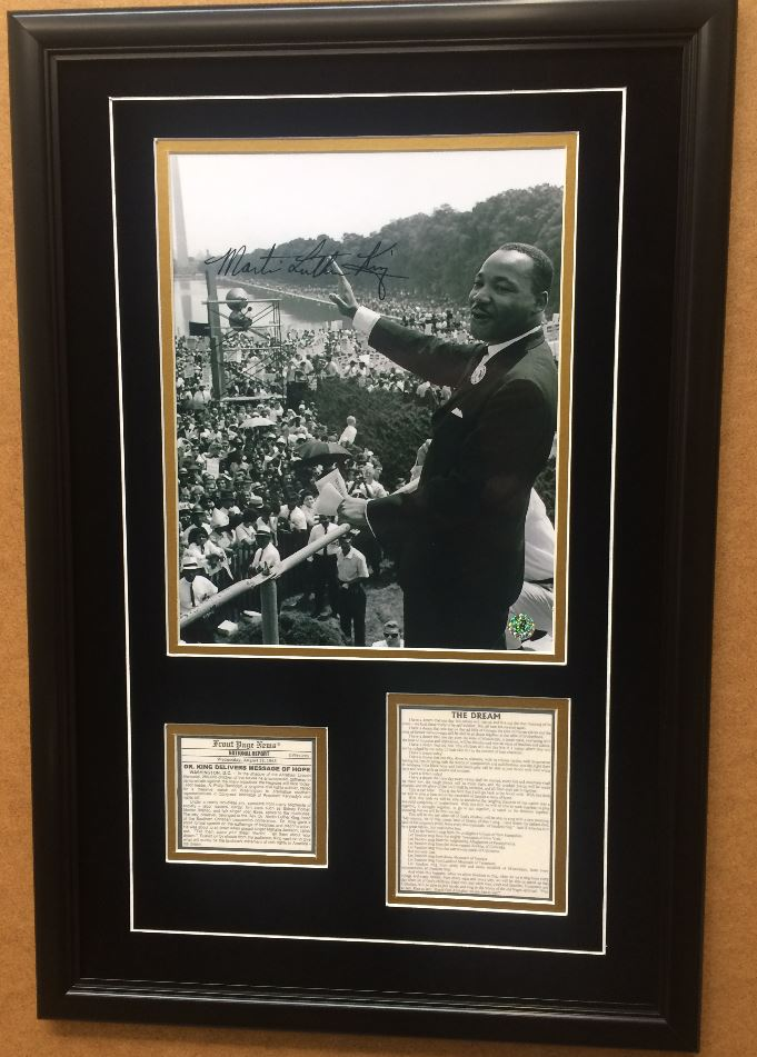 Martin Luther King Jr. Commemorative with Reproduced Signature