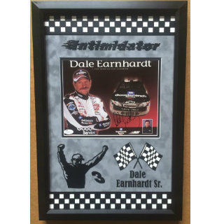 Dale Earnhardt Sr. Hand-Signed Nascar Commemorative - Deceased
