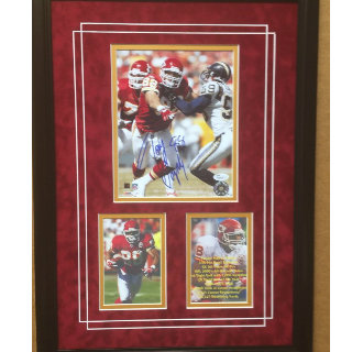 Tony Gonzalez Kansas City Chiefs Commemorative w- Reproduced Signature