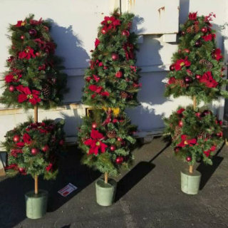 Holiday Decorative Topiaries For Sale