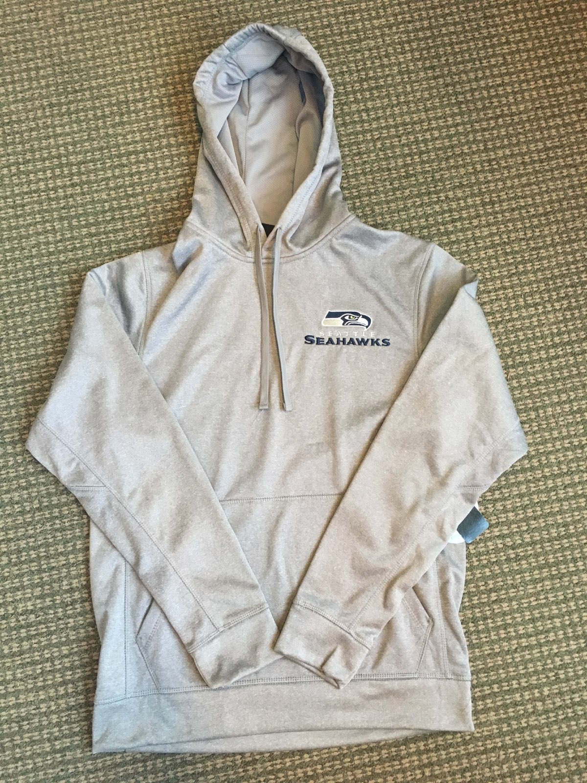 Seahawks Grey Dunbrooke hoodie Size Large