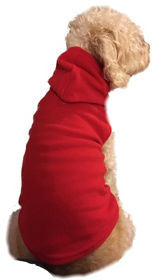 Pet Hoodie Sweater Pajamas for Dogs & Cats in Red Fleece