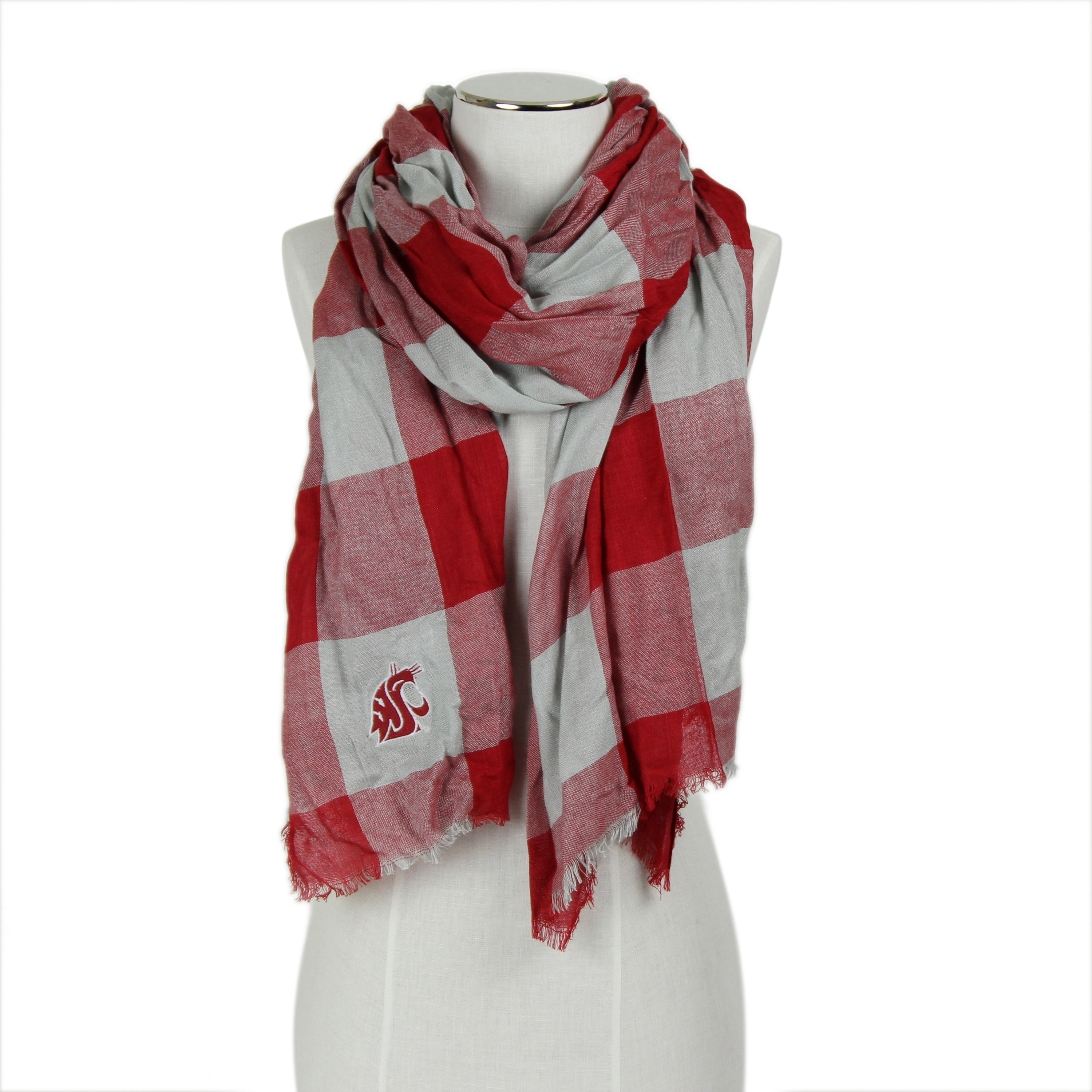 WSU Buffalo Check scarf