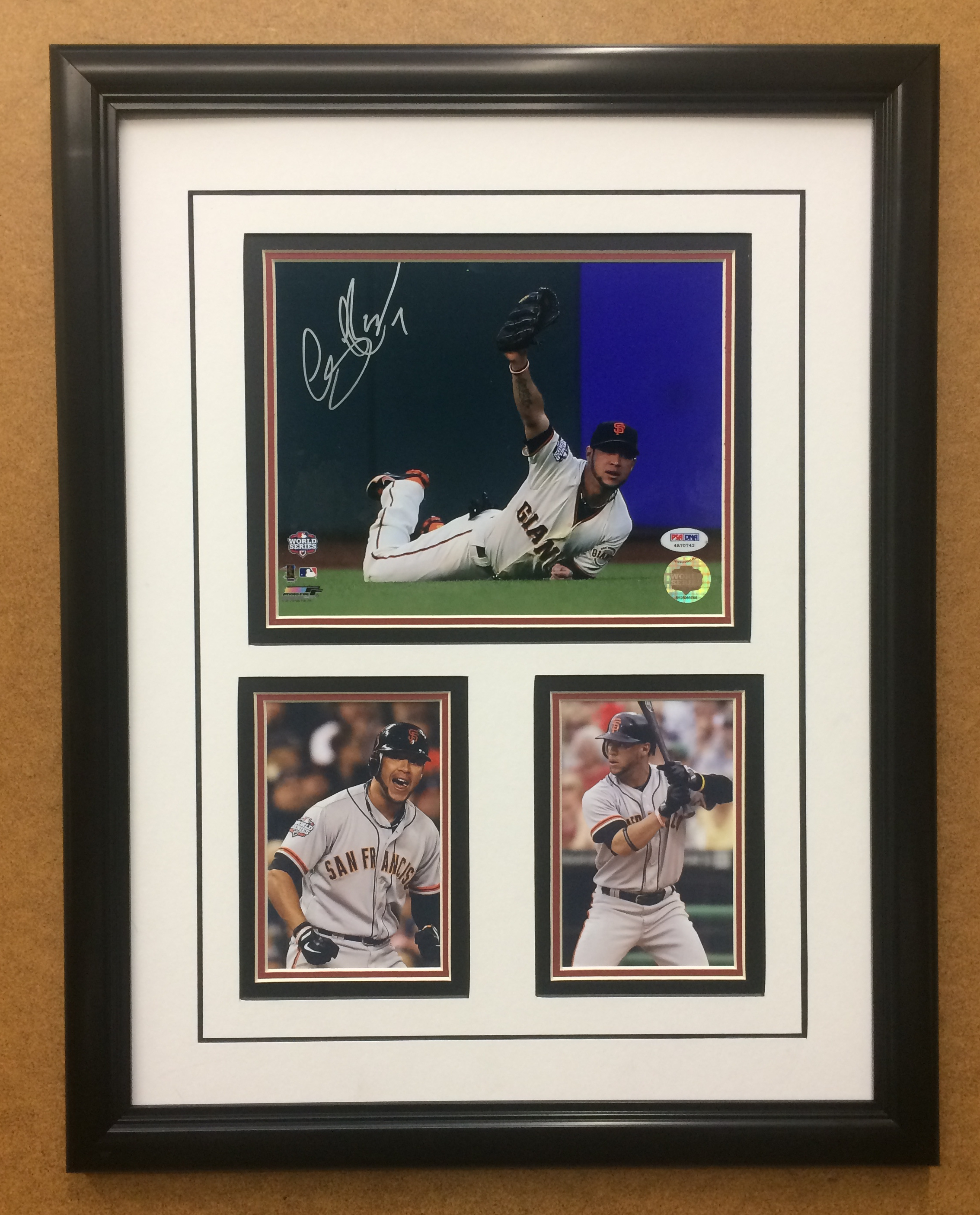 Gregor Blanco S.F. Giants Hand-Signed 8x10 Commemorative