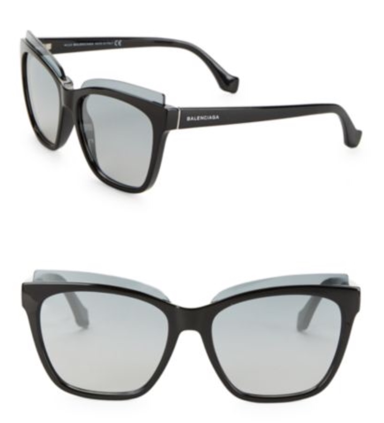 New Authentic Balenciaga Black/Gray Sunglasses