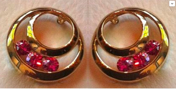 Gold Earrings & Natural Pink Sapphires (Posts)