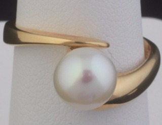 """Sweet Wonder""  Pearl & Gold Ring"