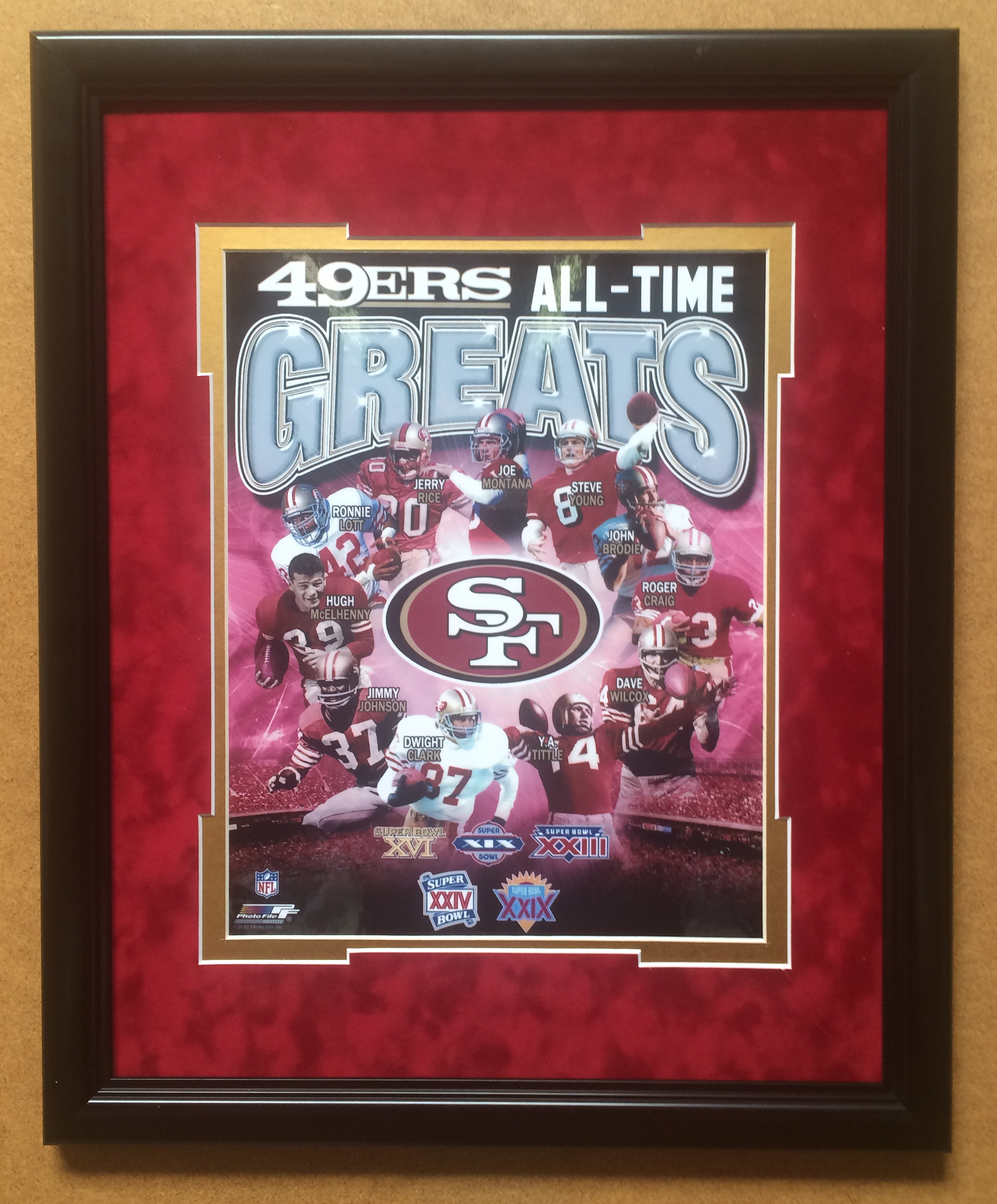 49er All Time Greats 11x14 or 8x10 Framed