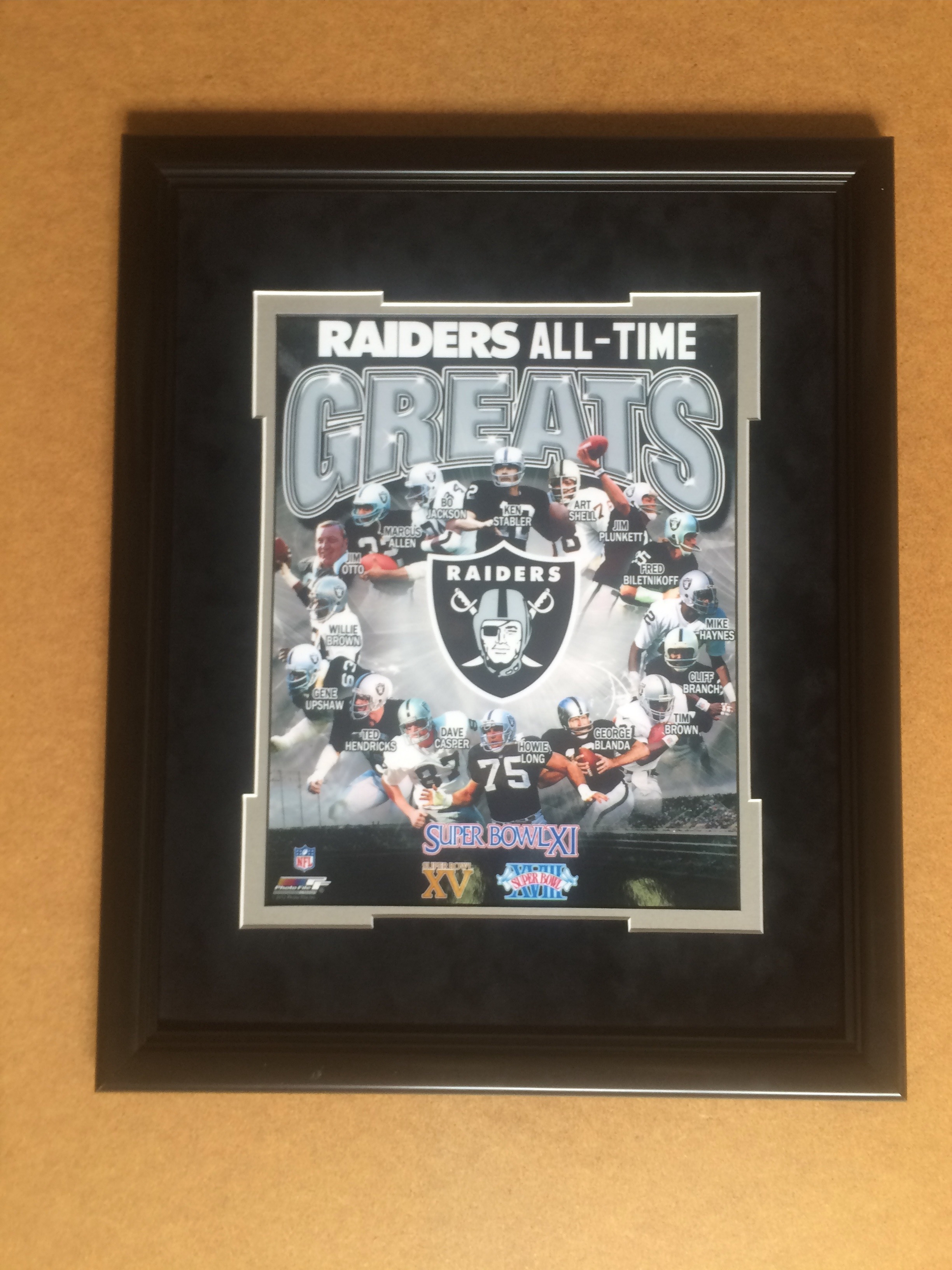 Oakland Raiders All Time Greats 11x14 or 8x10 Framed