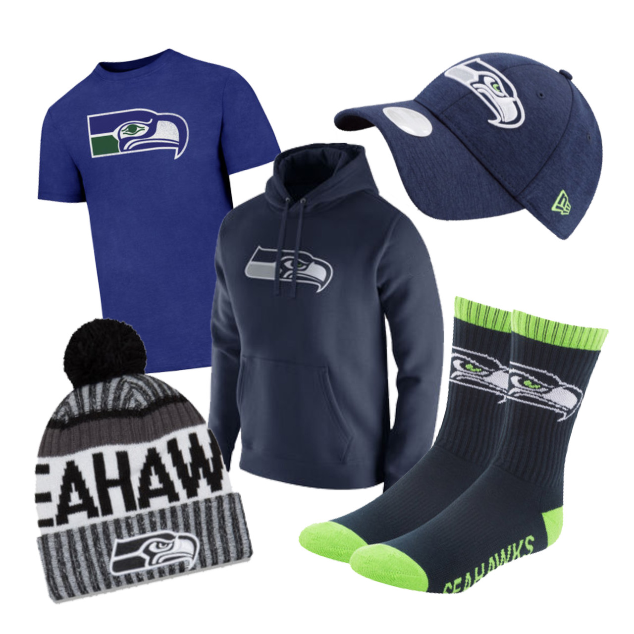 Seahawks Ultimate Fan Bundle for Men- X-Large
