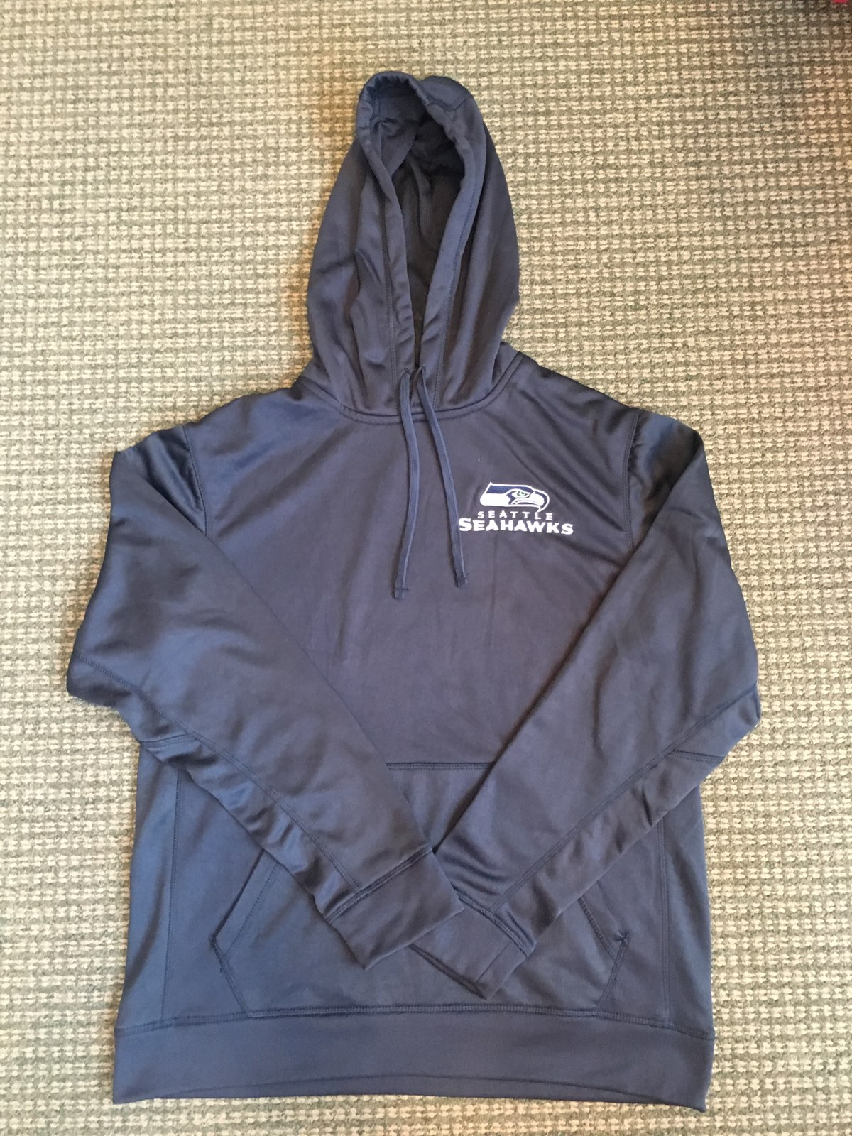Seahawks Dunbrooke Hoodie Navy , 100% Polyester Size Medium