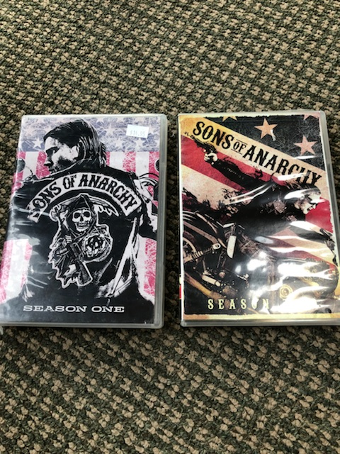 Sons of Anarchy Season 1 and 2 (open and watched once)