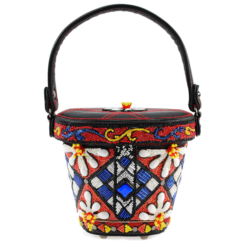 "Mary Frances ""Ciao Bella"" Beaded Top Handle Bag"