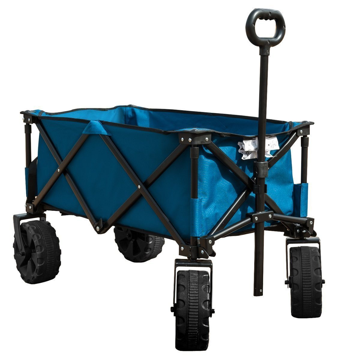 TC1014 Multipurpose Folding Utility Wagon With Adjustable Retractable Handle, B
