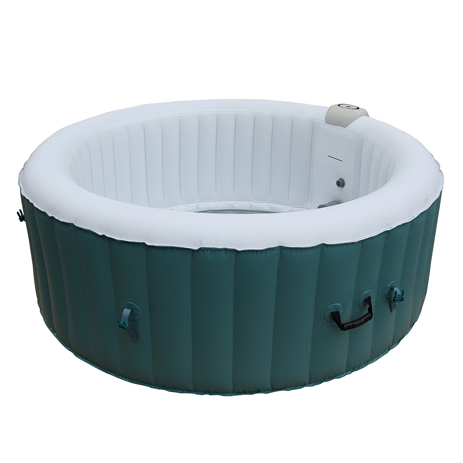 HTIR4BLL Round Inflatable Hot Tub Personal Spa, 4 Person, 215 Gallon, Light Blue