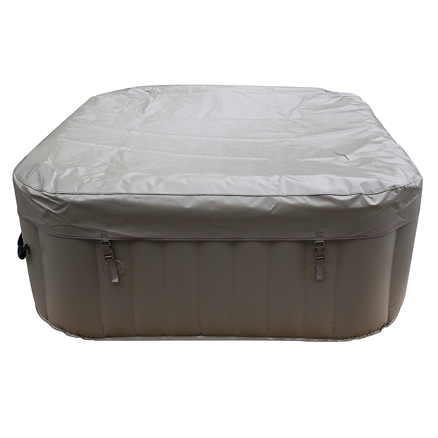 BizX HTISQ4BR Square Inflatable Portable Hot Tub Personal