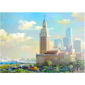 "Alexander Chen ""Freedom Tower and the Port of Miami"" Limited"
