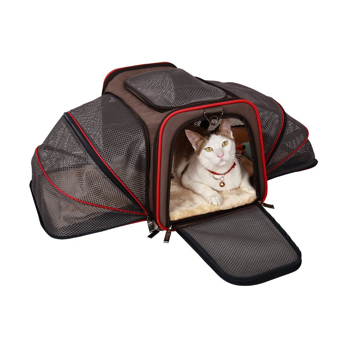 PCE01BKL Heavy Duty Expandable Pet Carrier for Travel - Airline Approved