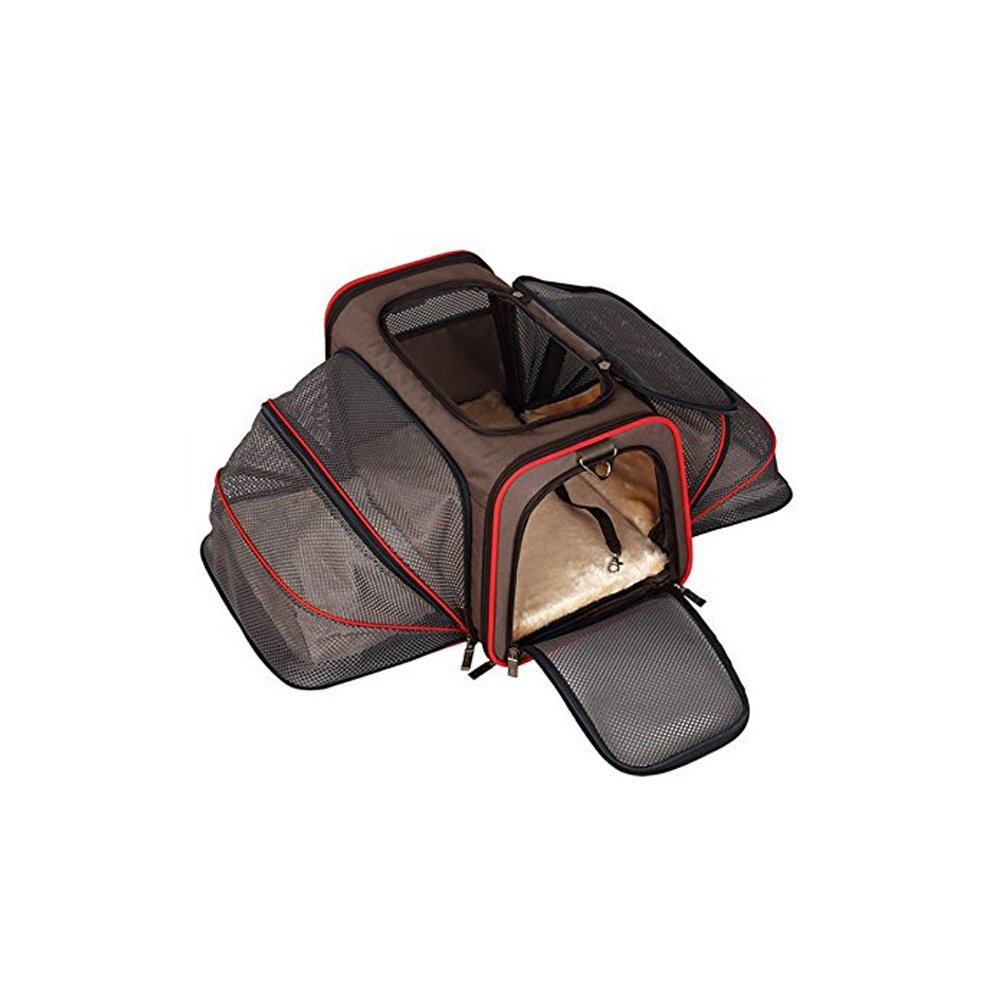 PCE01BKM Heavy Duty Expandable Pet Carrier for Travel - Airline Approved