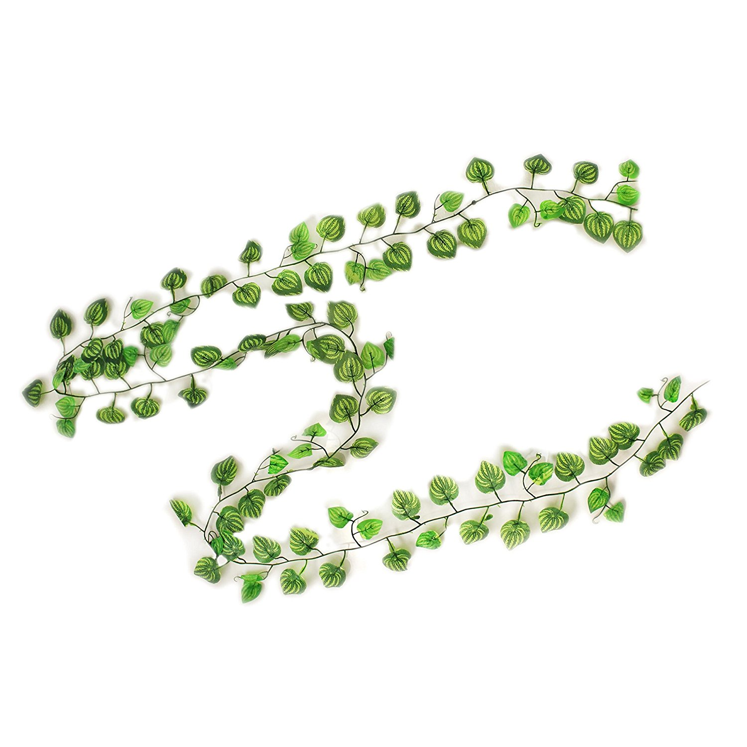 10PL008 Green Artificial Bright Devil's Ivy Garland Decoration, Pack of 10 7.5'