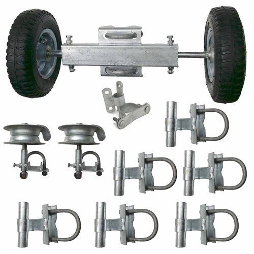 Gate Kit #2 Rolling Gate Hardware Kit Chain Link Rolling Gate Guides Rollers