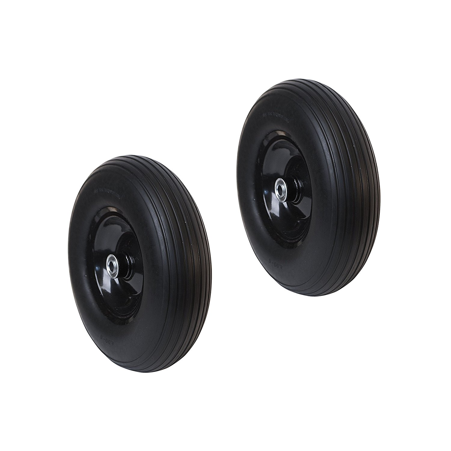 2WBNF13 Anti Flat Replacement Ribbed Wheels for Wheelbarrow 13 Inch No Flat Tire