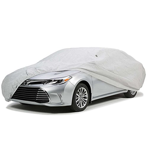 CCF032 Easy Fit Weather Resistant Car Cover in Silver coated Polyester, up to 17