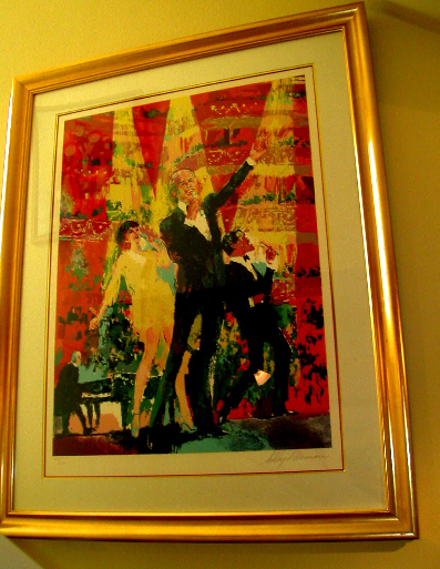 Frank, Liza and Sammy at Royal Albert Hall by LeRoy Neiman