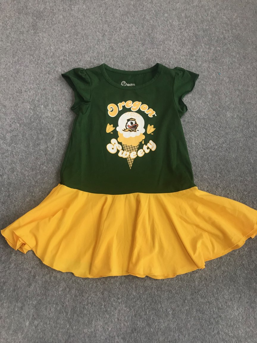 Oregon Ducks Toddler Outfit N/WT size 3T