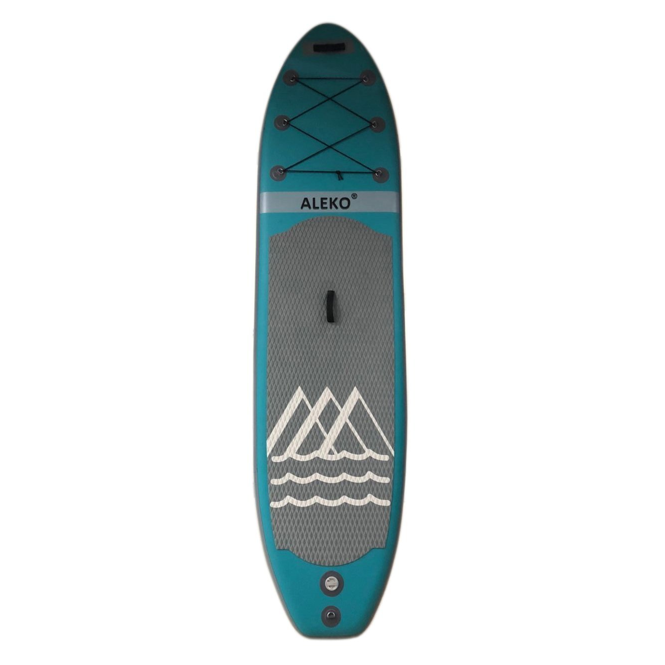 SUPB310 10 Foot Stand Up Inflatable Paddle Board With Mountain Design Light Blue