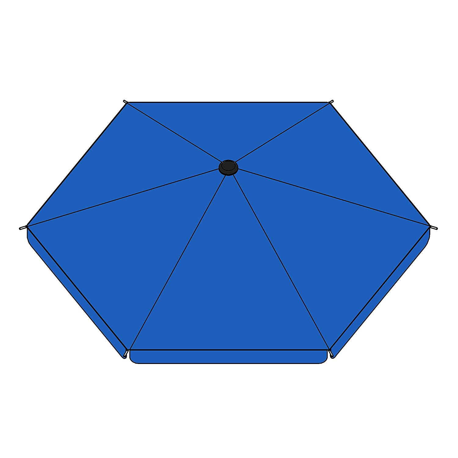 DKR60BL Umbrella Cover for Large Sized Heavy Duty Playpen - Blue