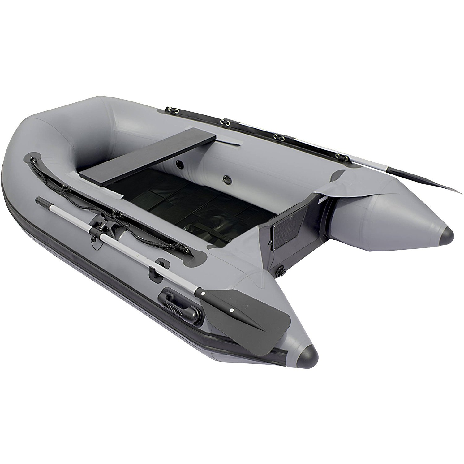 BTSDSL250BK 8.5 Foot Inflatable Boat with Pre-Installed Slide Slat Deck