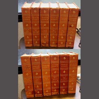 1900 Set of 12 Charles Dickens Illustrated Classics (Leather Books)