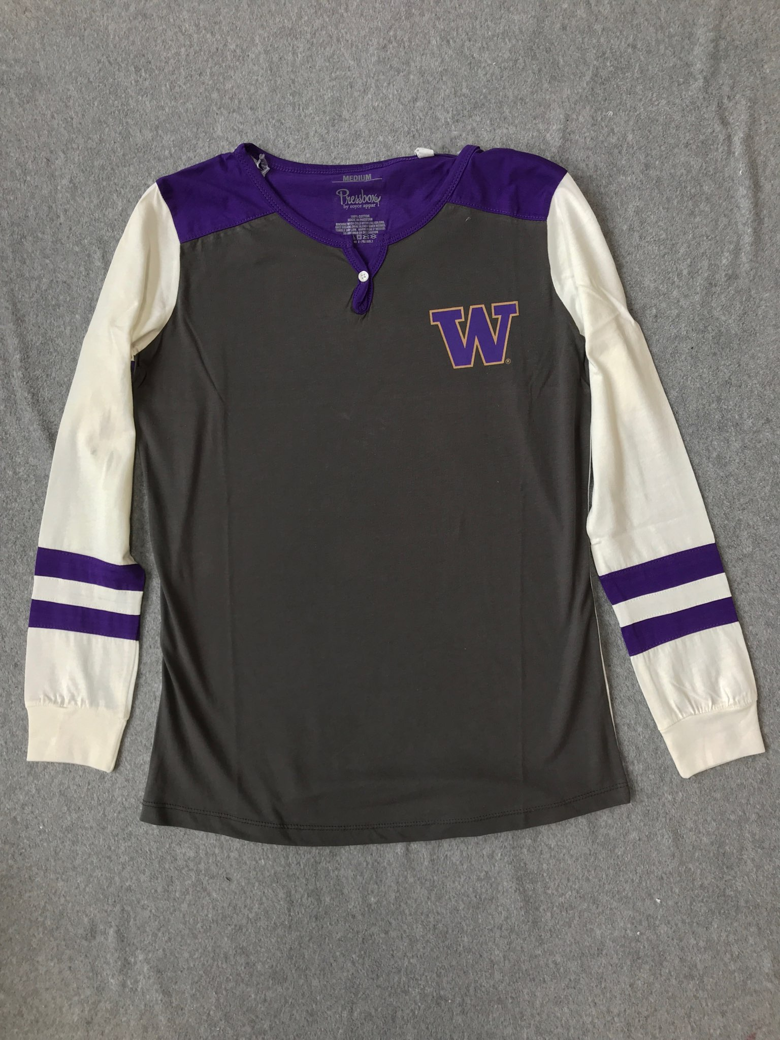 UW Ladies Baseball Tee longsleeve Size Medium