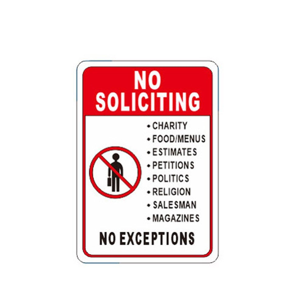 WSN15 Aluminum No Soliciting Sign 7 x 10 Inches