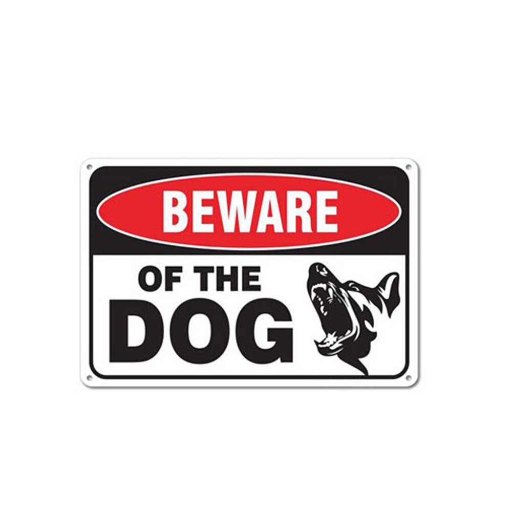 WSN10 Aluminum Beware of Dog Sign 7 x 10 Inches